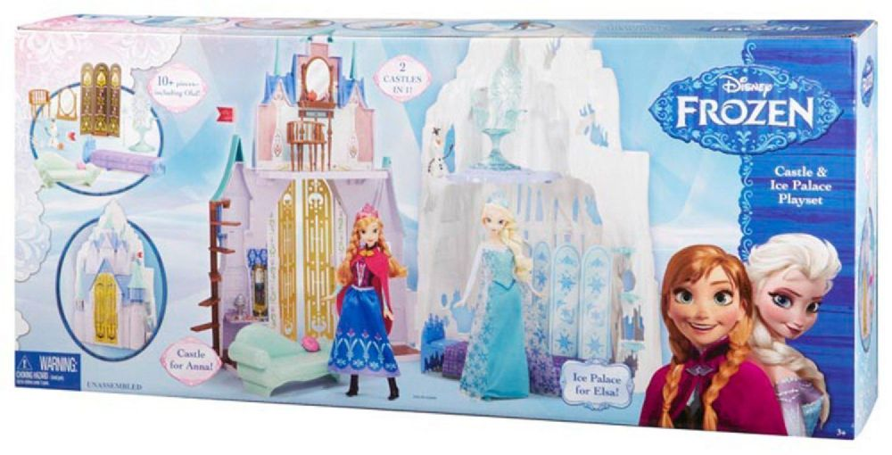 high chair for dolls long back sofa disney frozen castle and ice palace playset